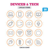 Devices and technologies icons. Usb, wi-fi Royalty Free Stock Photography
