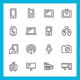 Devices and technology vector icons Royalty Free Stock Image