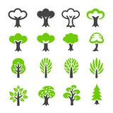 Tree icon set. Vector and illustration stock illustration