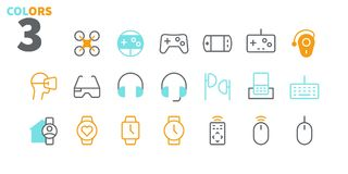 Devices UI Pixel Perfect Well-crafted Vector Thin Line Icons 48x48 Ready for 24x24 Grid for Web Graphics and Apps with royalty free illustration