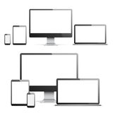Devices with White Screens Royalty Free Stock Photo