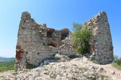Devicky城堡废墟,捷克 库存照片