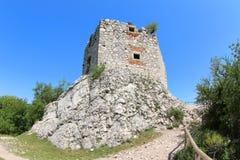 Devicky城堡废墟,捷克 库存图片