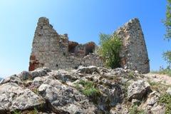 Devicky城堡废墟,捷克 免版税库存照片