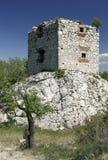 Devicky城堡火炮塔  库存照片