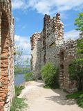 Devicky Castle Ruins. In South Moravia, Czech Republic Royalty Free Stock Photo