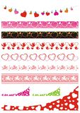 Devider set with hearts Stock Image