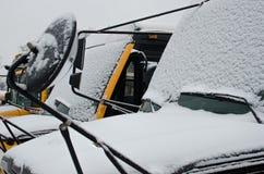 Devido fechado da escola nevar Imagens de Stock Royalty Free