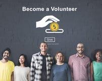 Deviennent un concept volontaire de soulagement de service de support Images libres de droits
