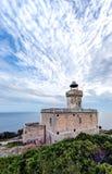 Devil& x27; маяк пункта s: Острова Tremiti, Адриатическое море, Италия Стоковая Фотография RF