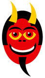 Devil. Jolly and laughing devil in black, red an yellow Stock Photography