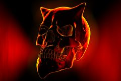 Devil. The skull of the fiendish devil Stock Images