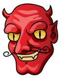 Devil. A cartoon halloween devil head or mask Stock Photo