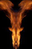 Devil. Abstract photo of a fire royalty free stock image