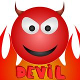 Devil. An illustration of a devil emoticon Royalty Free Stock Images