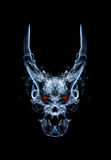 Devil. Abstract daemon or devil skull , made from smoke Royalty Free Stock Images