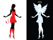 Devil and angel Stock Photos