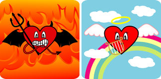 Devil and Angel royalty free stock image