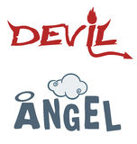 Devil angel Royalty Free Stock Photo