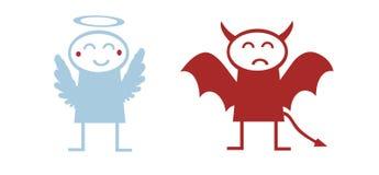 Devil angel Stock Photography