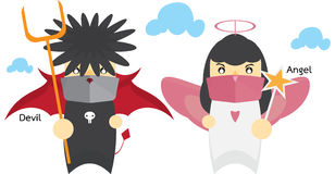 Devil and angel Royalty Free Stock Images