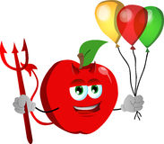 Devil apple with balloons Royalty Free Stock Photos