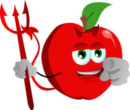 Devil apple pointing at viewer Stock Photo