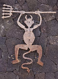 The devil as symbol for Timanfaya Park Stock Photography
