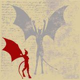 Devil Background. Background illustration of a devil for Halloween Stock Photo