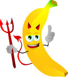 Devil banana with attitude Royalty Free Stock Photography
