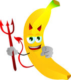 Devil banana pointing at viewer Stock Images