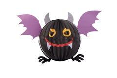 Devil bat. Devil bat hanging mobile for halloween decor on white background Stock Photo