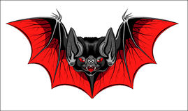 Devil bat. Illustration of devil bat with wings Royalty Free Stock Image