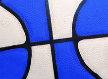 Devil Blue. Close up of a basketball in blue and white Stock Photos