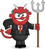 Devil Boss Cartoon Stock Image