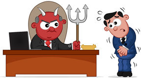 Devil Boss and Employee Royalty Free Stock Image