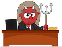 Devil Boss Man Royalty Free Stock Photography