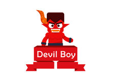 Devil boy cute character Royalty Free Stock Photo