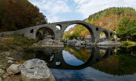 Devil bridge landmark, Bulgaria. Devil Bridge or & x22;Dyavolski most& x22; landmark in Rhodope mountain, Bulgaria Stock Images