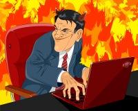 Devil in business suit Stock Images