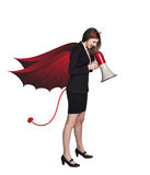 Devil businesslady Stock Photo