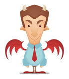Devil Businessman. Cute Devil Businessman. Cartoon Character Stock Photos