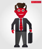 Devil businessman Stock Photography