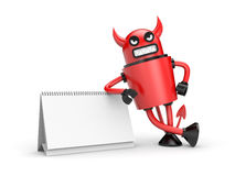 Devil with calendar Stock Photos