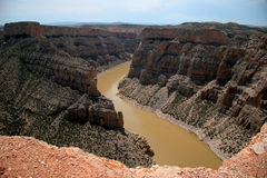 Devil Canyon overlook at Bighorn Canyon Royalty Free Stock Photo