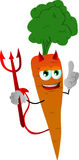 Devil carrot with attitude Royalty Free Stock Photography