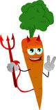 Devil carrot gesturing the peace sign Stock Images