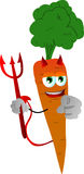 Devil carrot pointing at viewer Stock Photo