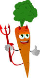 Devil carrot with thumb up Royalty Free Stock Images