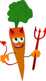 Devil carrot Stock Image